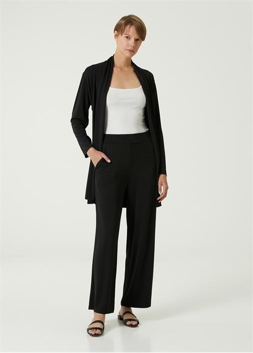 Siyah Krep Jersey Pantolon