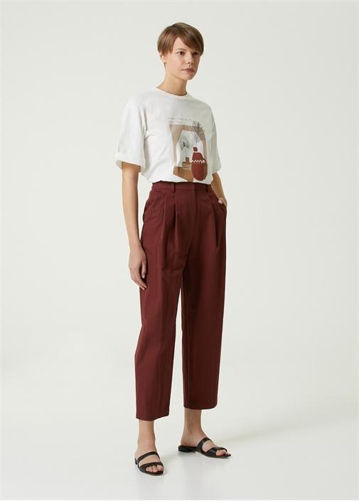 Kiremit Pili Detaylı Teknik Pantolon