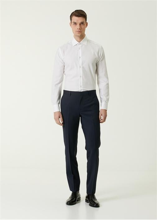 Lacivert Klasik İnce Yün Pantolon