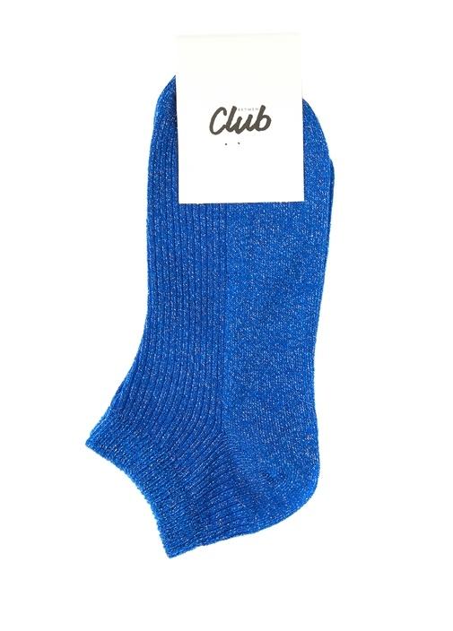 Mavi Sim Dokulu Kadın Çorap