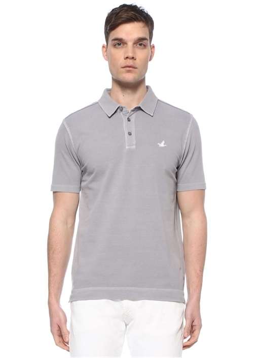 Comfort Fit Gri Polo Yaka T-shirt