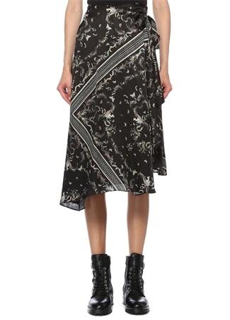 Allsaints Kadın Maia Siyah Desenli Midi Elbise 0 EU