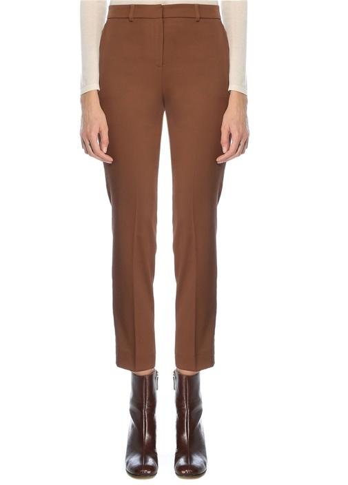 Tarçın Saten Yüzeyli Klasik Cigarette Pantolon