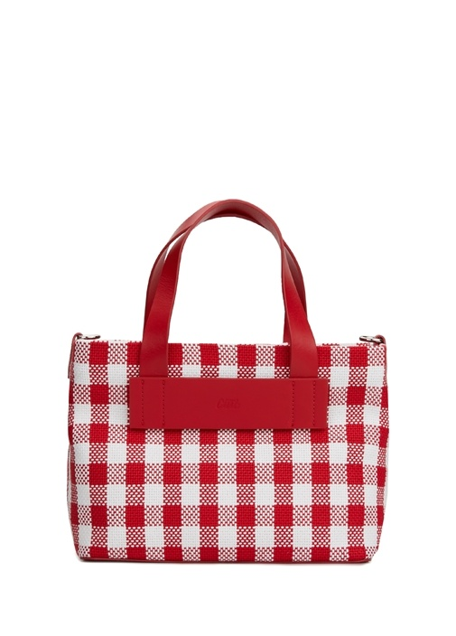 Vichy Mini Pötikareli Kadın Alışveriş Çantası