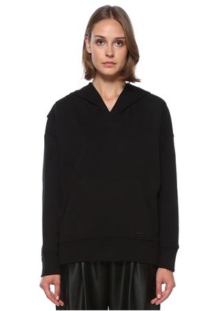 Academia Kadın Siyah Kapüşonlu Sırt Detaylı Sweatshirt XS/S