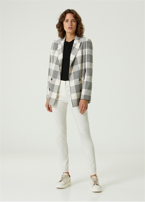 Beyaz Normal Bel Pantolon