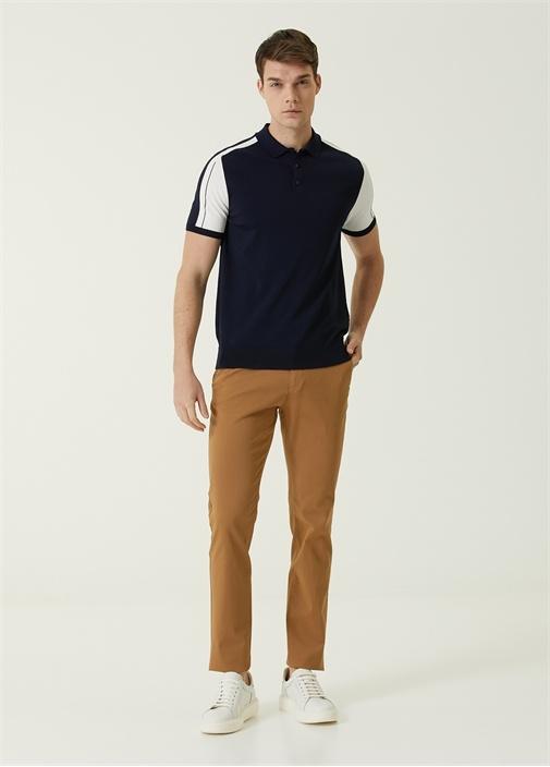 Regular Fit Bej Panama Dokulu Spor Pantolon