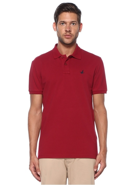 Slim Fit Koyu Pembe Polo Yaka T-shirt