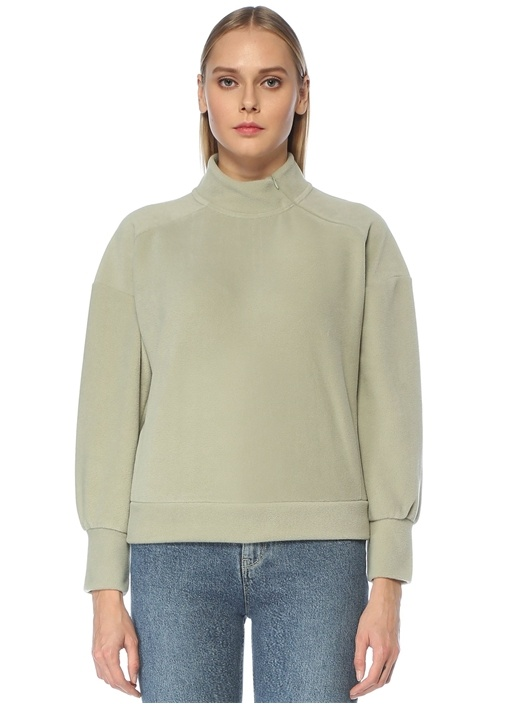 Mint Dik Yaka Polar Sweatshirt