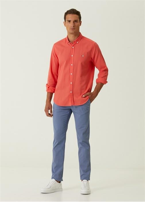 Slim Fit Mavi Spor Pantolon