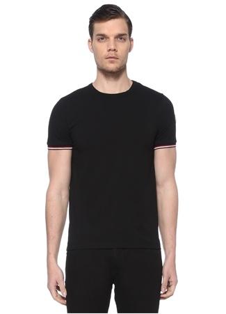 Moncler Erkek Siyah Logo Patchli Basic T-shirt EU male