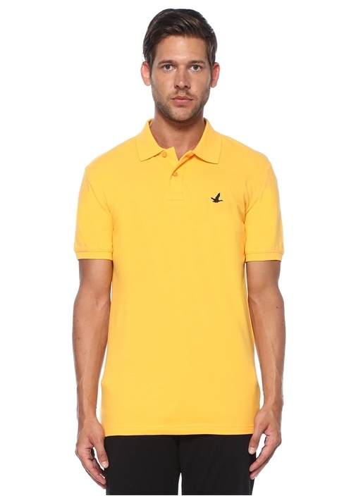 Slim Fit Sarı Polo Yaka T-shirt