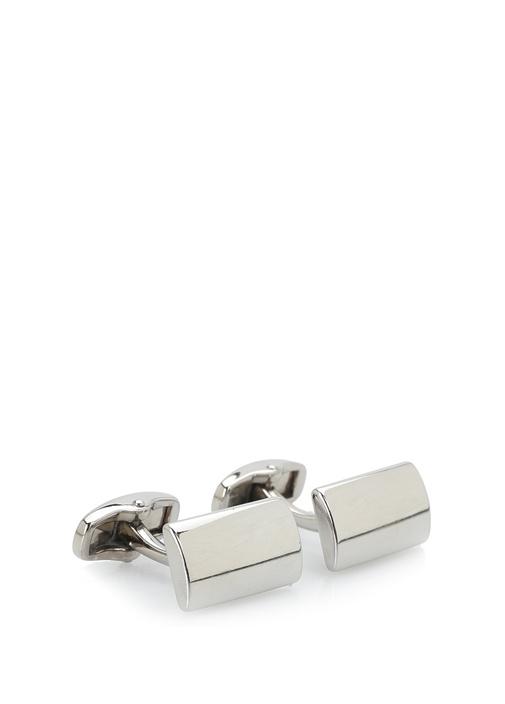Silver Dikdörtgen Formlu Kol Düğmesi