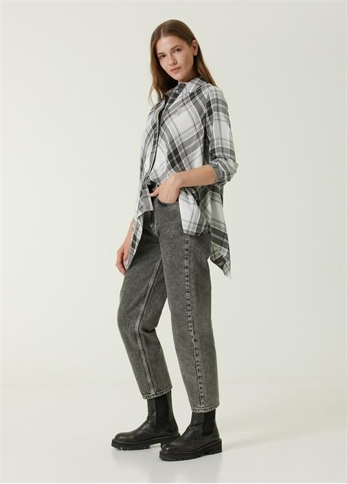 Weekender Gri Yüksek Bel Jean Pantolon