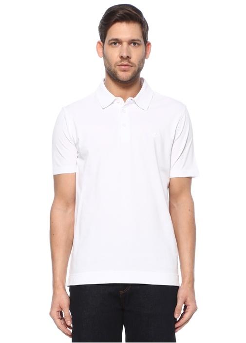 Comfort Fit Beyaz Polo Yaka T-shirt