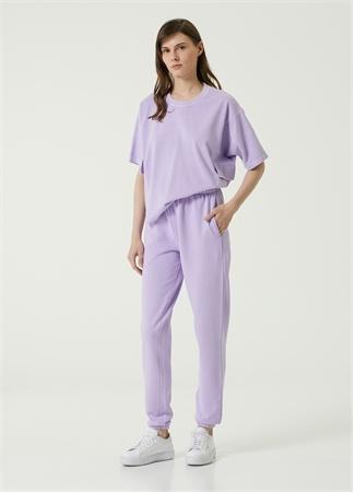 Academia Kadın Lila Jersey Pantolon Mor S