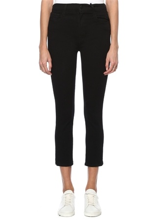 J Brand Kadın Vanity Slim Fit Siyah Crop Jean Pantolon 23 US