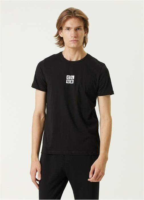 Siyah Logo Detaylı T-shirt