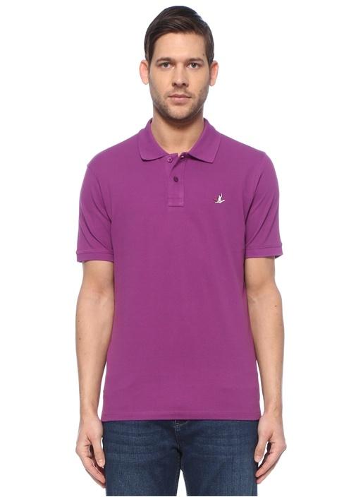 Comfort Fit Mor Polo Yaka T-shirt