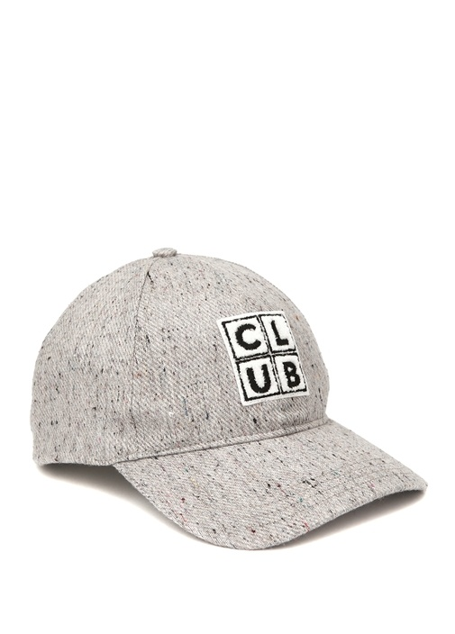 Gri Logo Patchli Erkek Şapka