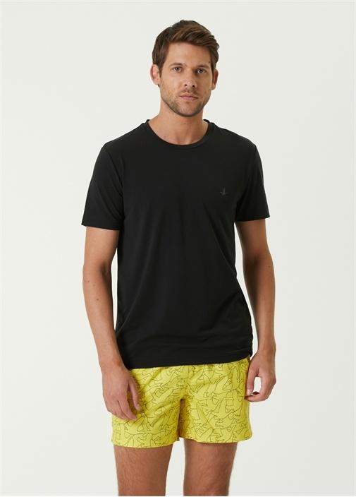 Cool Active Siyah Logolu T-shirt