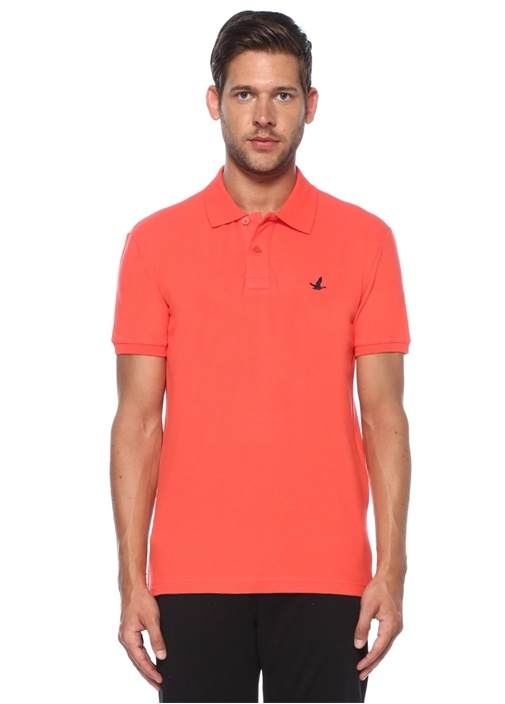 Slim Fit Mercan Polo Yaka T-shirt