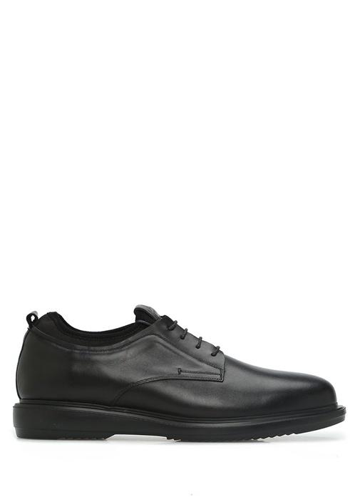 Siyah Bileği Scuba Garnili Erkek Deri Ayakkabı