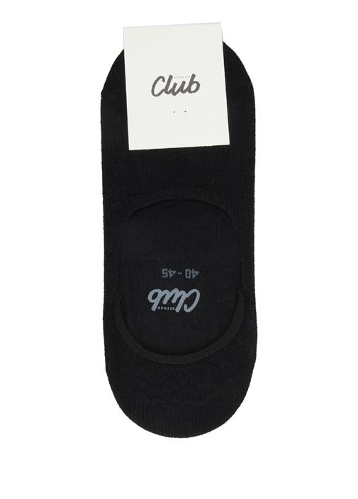 Siyah Logo Jakarlı Erkek Çorap