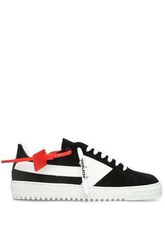 Off-White Kadın Siyah Beyaz Ok Baskılı Deri Sneaker 36 EU