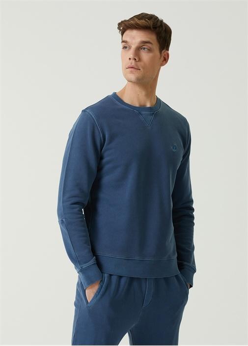 Mavi Logo Detaylı Sweatshirt