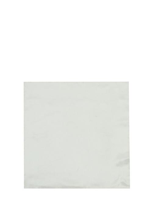 Beyaz Klasik İpek Poşet Mendil