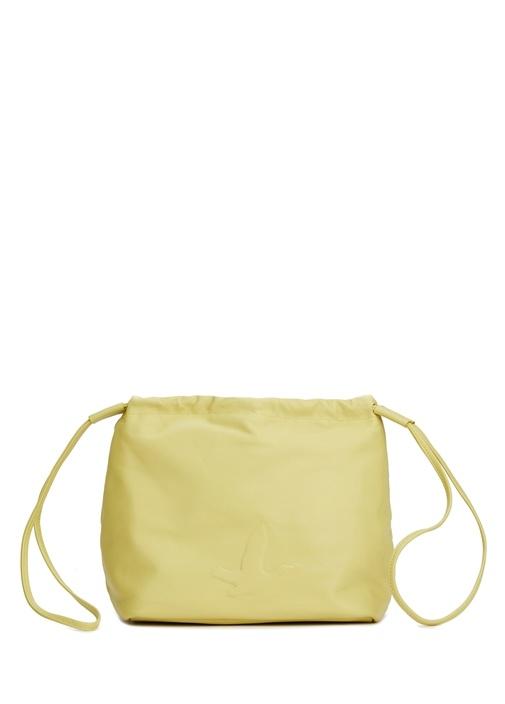Yeşil Kadın Deri Büzgülü Çanta