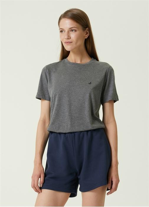 Antrasit Logolu Basic T-shirt