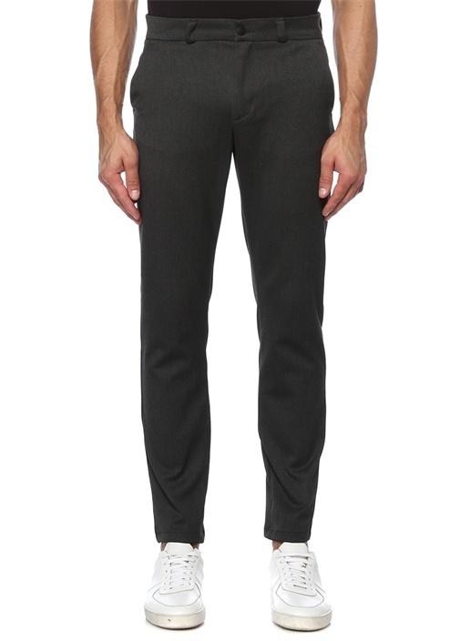 Slim Fit Antrasit Grogren Detaylı Chino Pantolon