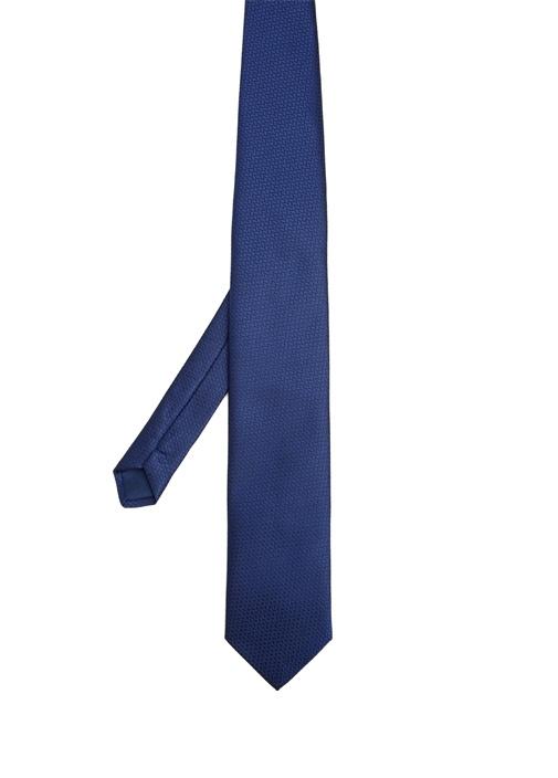 Mavi Çizgi Desenli Kravat