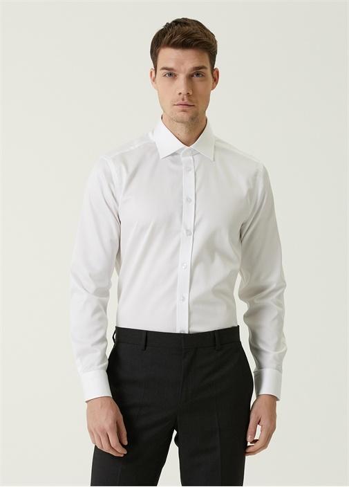 Slim Fit Non Iron Beyaz Gömlek