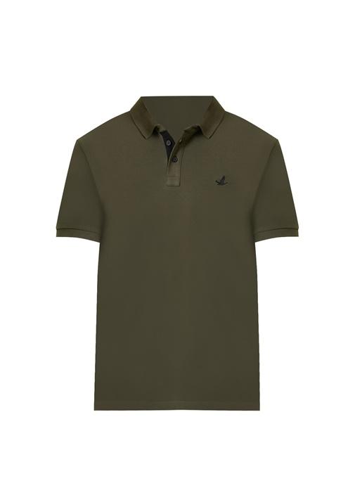 Slim Fit Haki Polo Yaka T-shirt