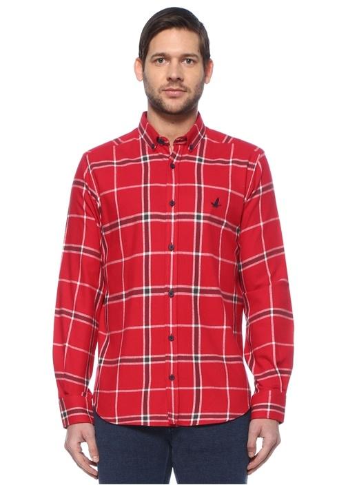 Comfort Fit Kırmızı Ekoseli Oduncu Gömlek