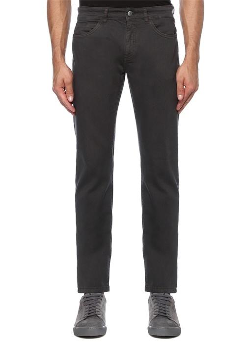 Slim Fit Antrasit Biye Detaylı Spor Pantolon