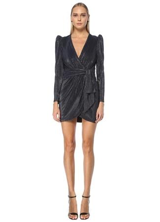 Jonathan Simkhai Kadın Siyah Mini Kruvaze Kokteyl Elbise 6 US