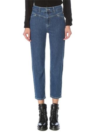 Beymen Club Kadın Lacivert Önü V Kup Detaylı Jean Pantolon 30