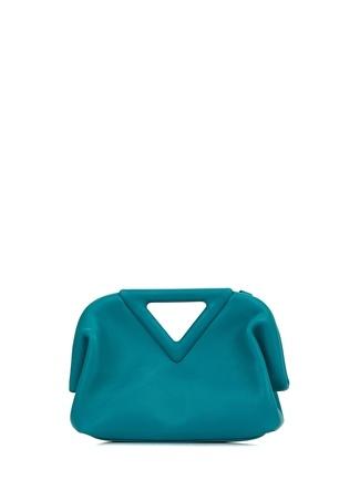 Bottega Veneta Kadın Small Point Mavi Deri Omuz Çantası EU