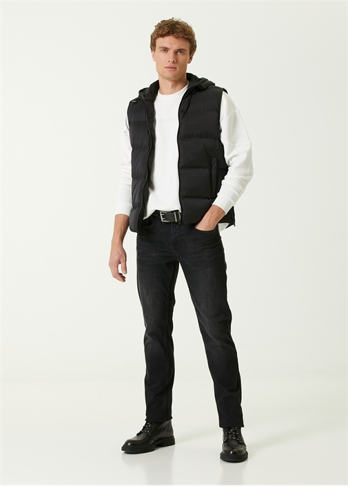 Straight Fit Siyah Jean Pantolon