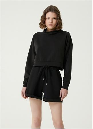 Network Kadın Slim Fit Siyah Sweatshirt S EU